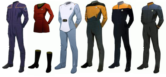 Starfleet Uniforms Through History