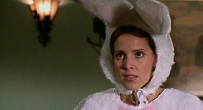 Buffy the Vampire Slayer's Emma Caulfield (dressed as a bunny)