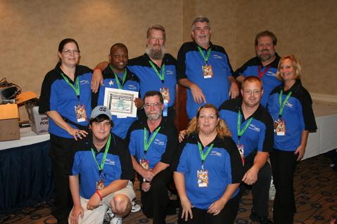The 2009 TrekTrak Staff (clockwise from upper left):  Mari Banks, Eddie Hines, Eric L. Watts, Tom Sheckler, Dave Slaughter, Kelly Sheckler, John Stump, Elisa Roper, Tim Key, Sam Vance