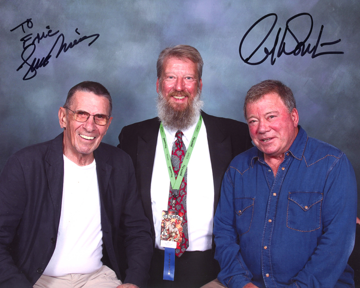 Eric L. Watts with Leonard Nimoy and William Shatner at the 2009 Dragon*Con.