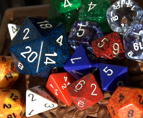 My DM Dice (Photo by Johnathan!)