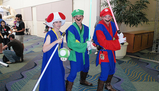 Star Wars Mario costumes at Star Wars Celebration V