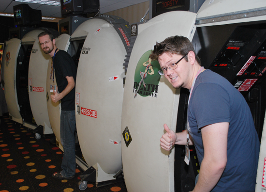 BattleTech simulator pods at Dragon*Con 2010