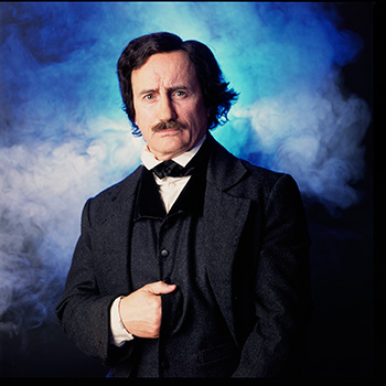 Jeffrey Combs as Edgar Allan Poe in Nevermore