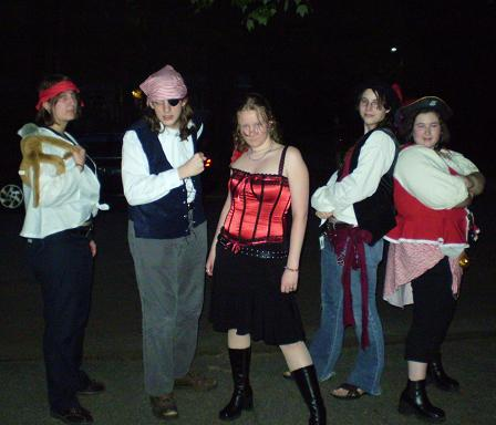 Pirates at the Premiere of Pirates of the Caribbean At  Worlds End