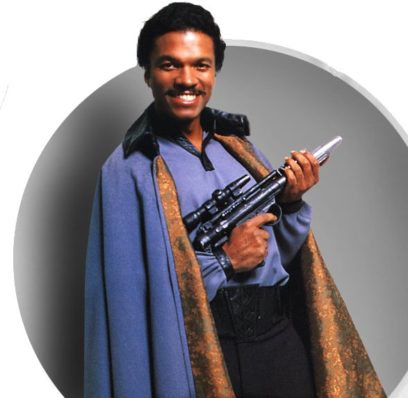 Billy Dee Williams as Lando Calrissian in Star Wars