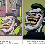 "Side By Side Comparison of Art by Ty Templeton and ""art"" by Rob Granito"