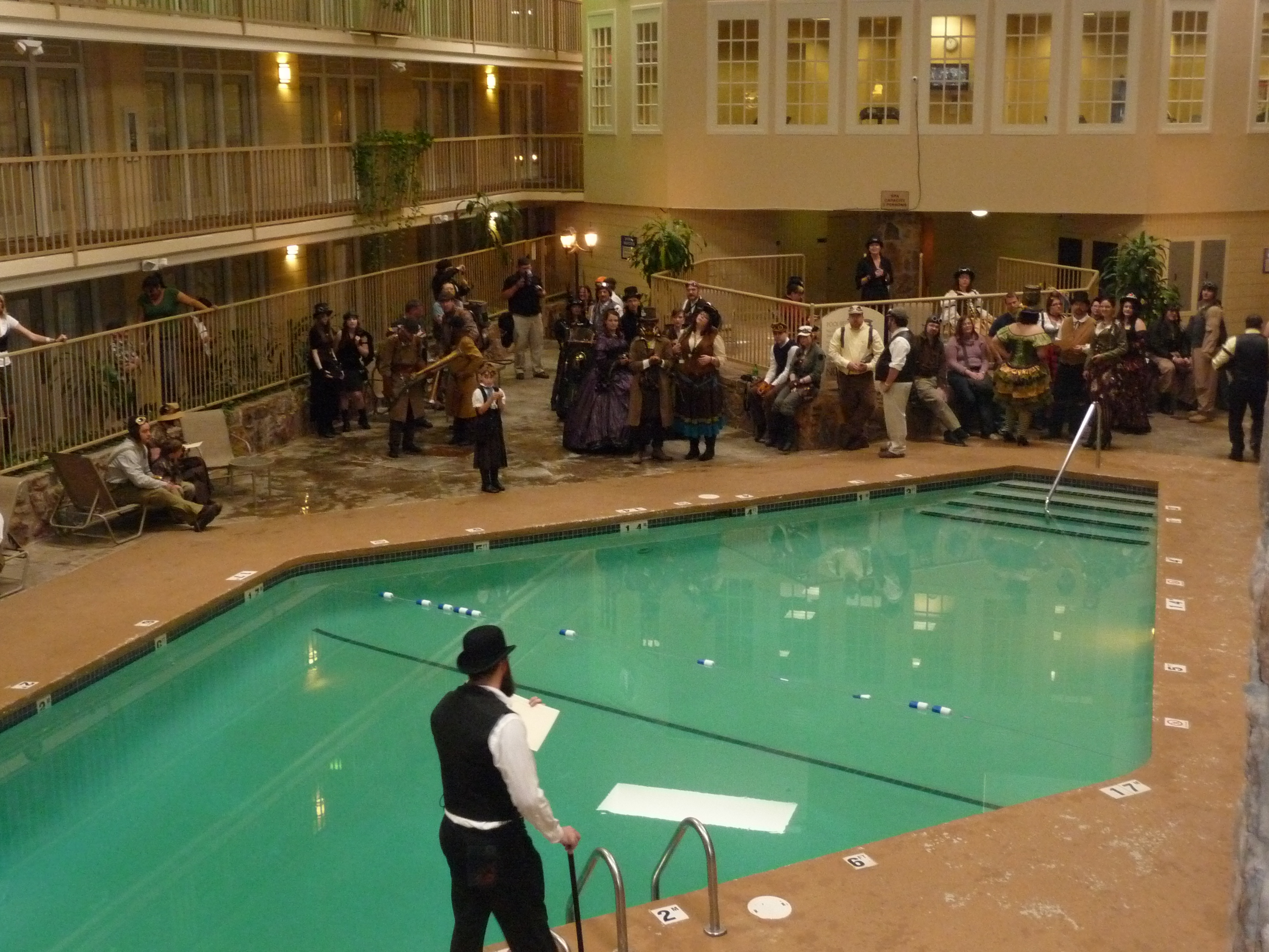Steampunk convention debuts in oklahoma city a report for Pool show okc