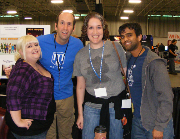 Kelly Rowles and cast members of The Guild at Game X.