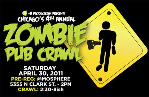Chicago's 4th annual zombie pub crawl