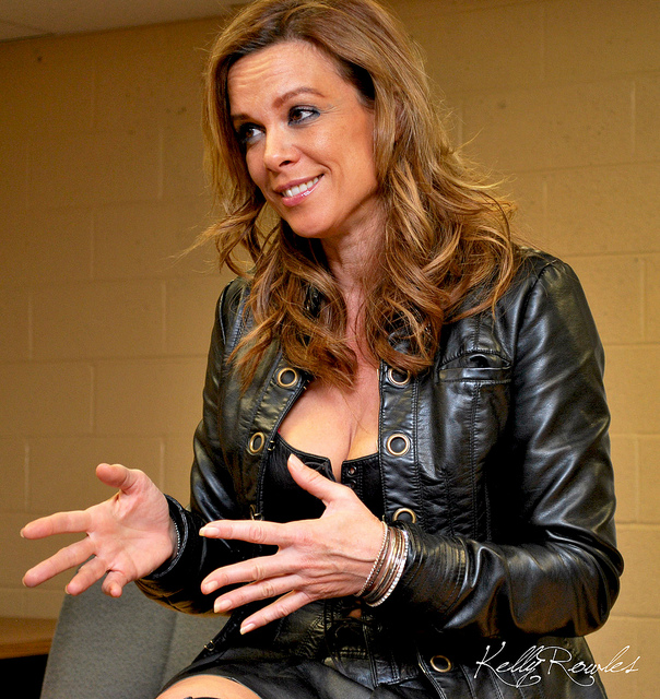 Star Trek's Chase Masterson at the TooManyGames convention (photo by Kelly Rowles)