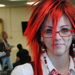Anime Cosplayer as Grell from Black Butler