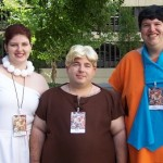 Flinstones cosplayers