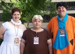 Flinstones cosplayers