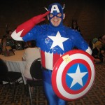 Captain America Cosplayer at Knoxville Anime & Comics Convention 2011